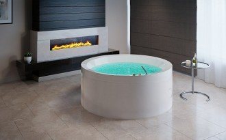 Aquatica Dream Rondo HydroRelax Jetted OutdoorIndoor Bathtub US version 240V 50 60Hz 01 (web)[1]